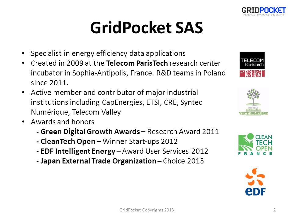 GridPocket Copyrights 2013