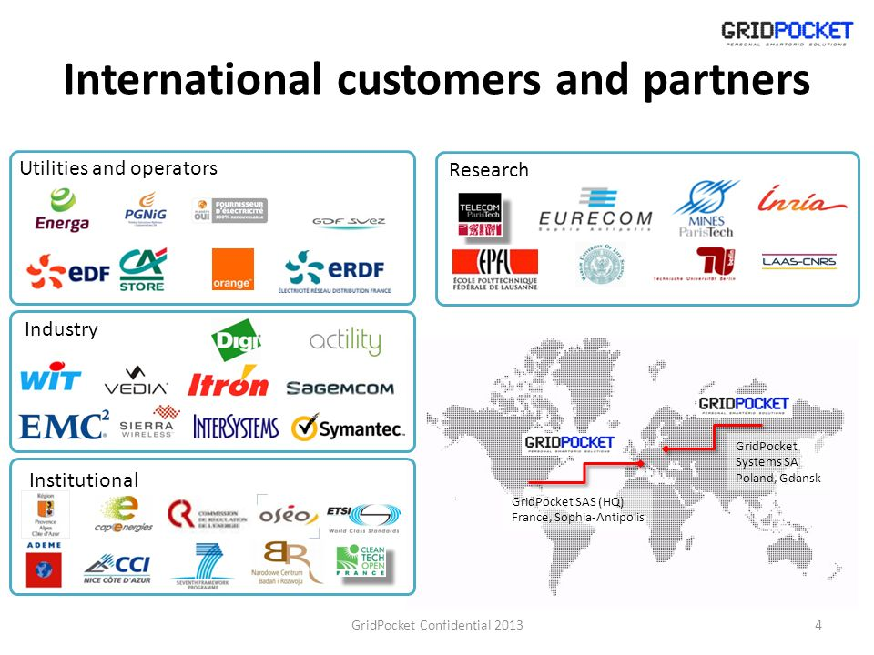 International customers and partners