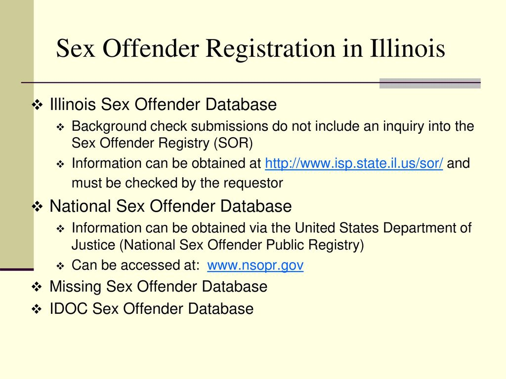 registration Sex offender