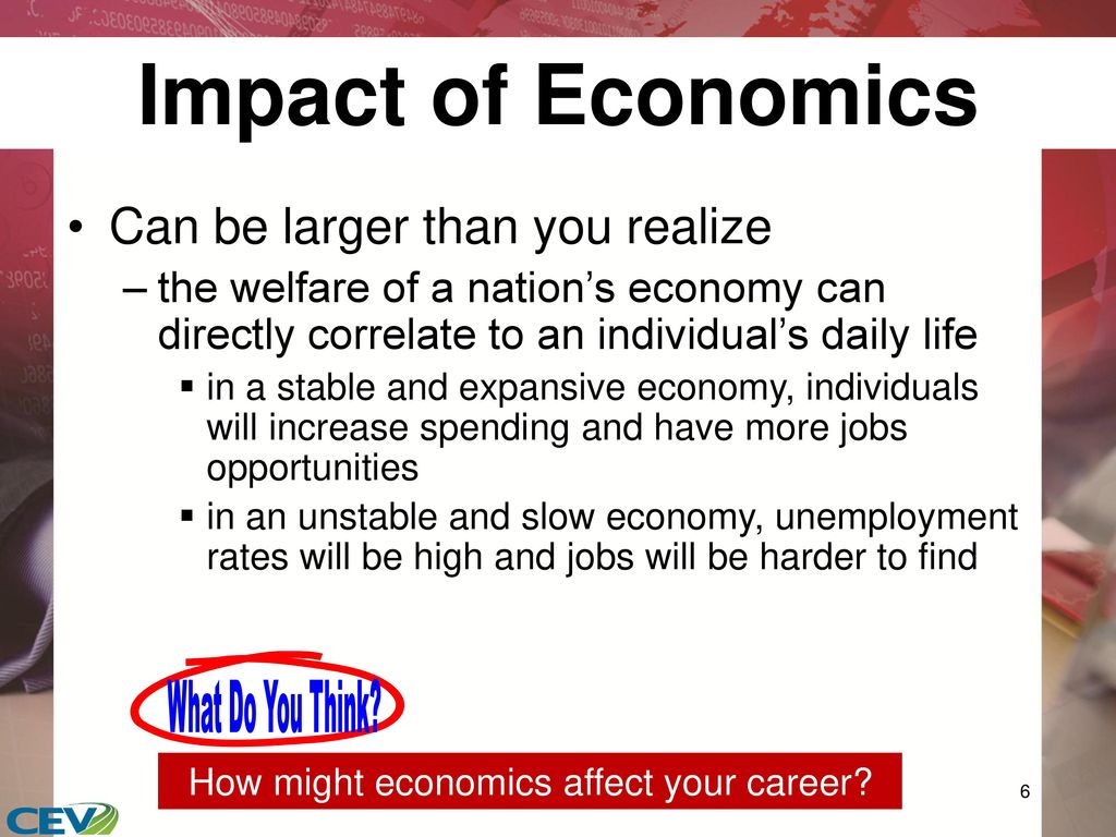 how do principles of economics effect your daily life Affect refers to the feelings we experience as part of our everyday lives as our day progresses, we may find ourselves feeling happy or sad, jealous or grateful, proud or embarrassed  we use affect, behavior, and cognition to help us successfully interact with others.