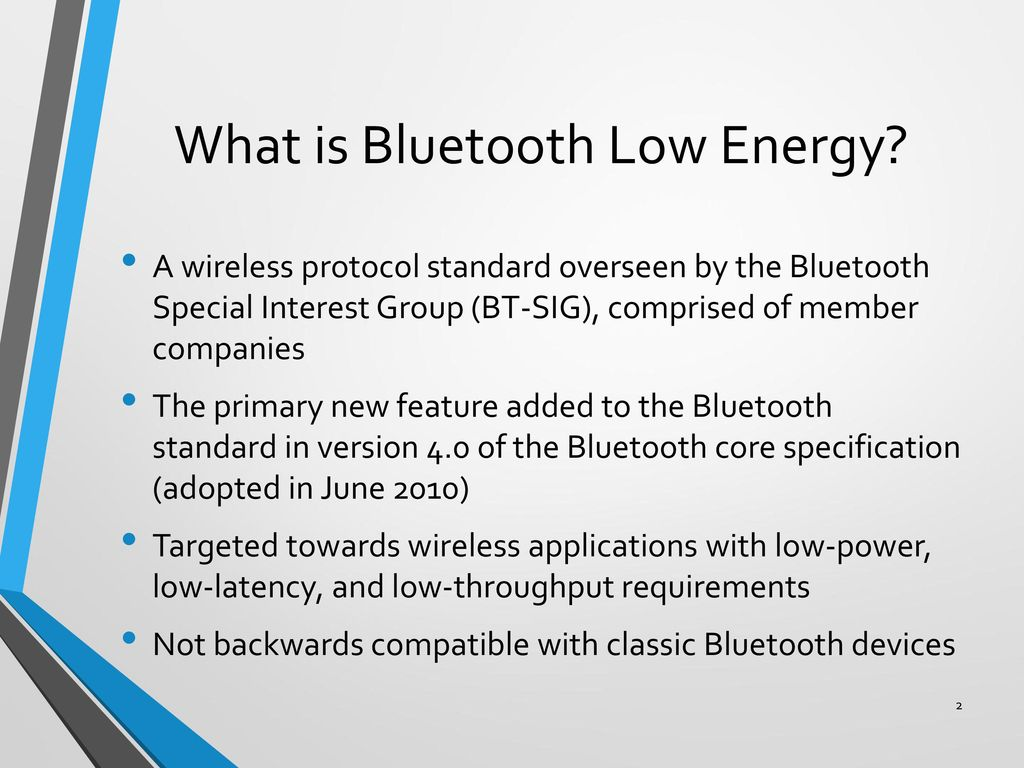 the bluetooth sig and specifications 2 essay The bluetooth™ special interest group (sig) has produced a specification for bluetooth™ wireless communication that is publicly available and royalty free short-range wireless today much of short-range communication takes place over cables.