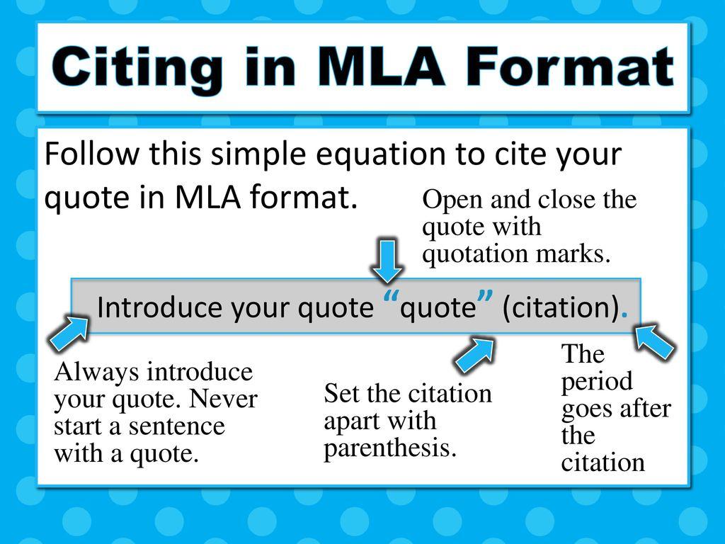 how do you cite a quote