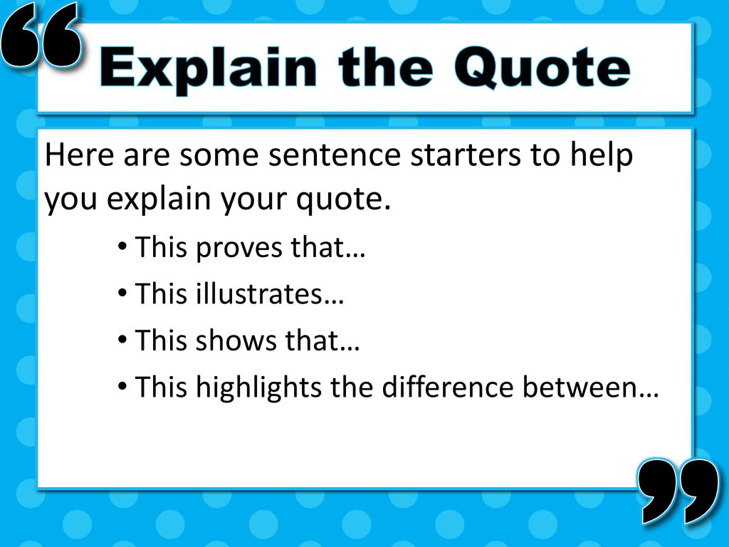 how to explain a quote