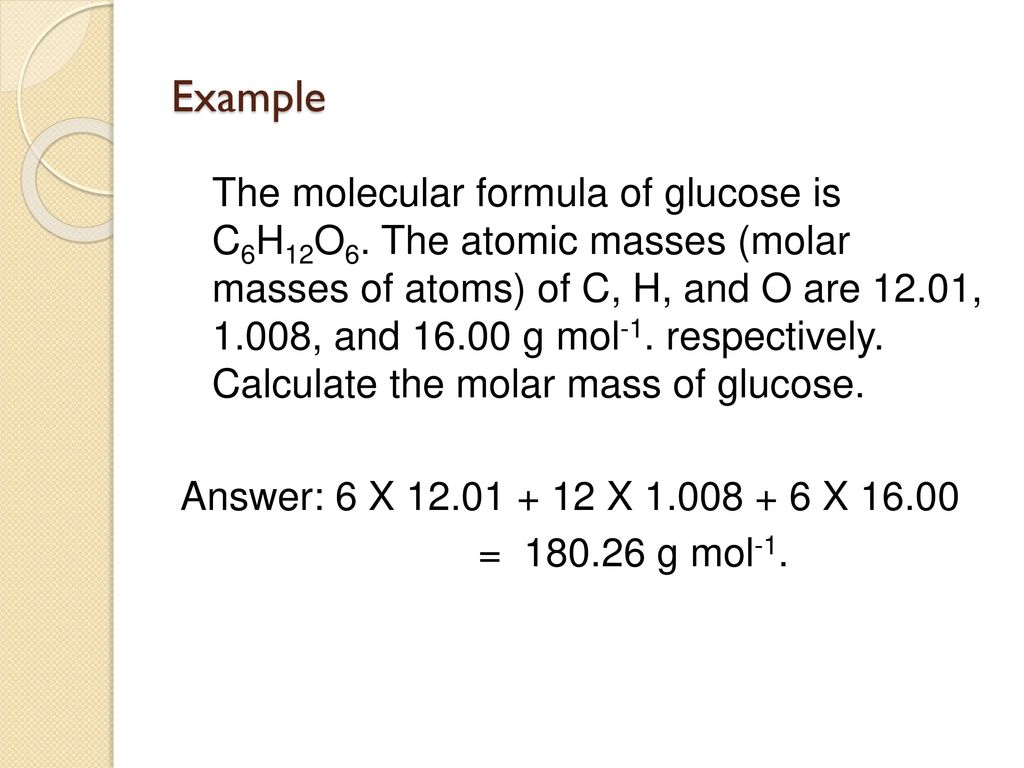 Engineering chemistry chm ppt download 6 example the molecular formula of glucose biocorpaavc Images