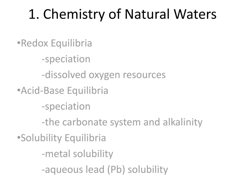 chemistry of natural waters Full-text paper (pdf): chemistry of natural waters and its relation to buruli ulcer in ghana.