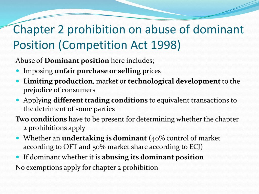 """competition law smp and dominant positions Eu competition law – abuse of dominance (article 102 """"any abuse by one or more undertakings of a dominant position • competition law concerned first and."""