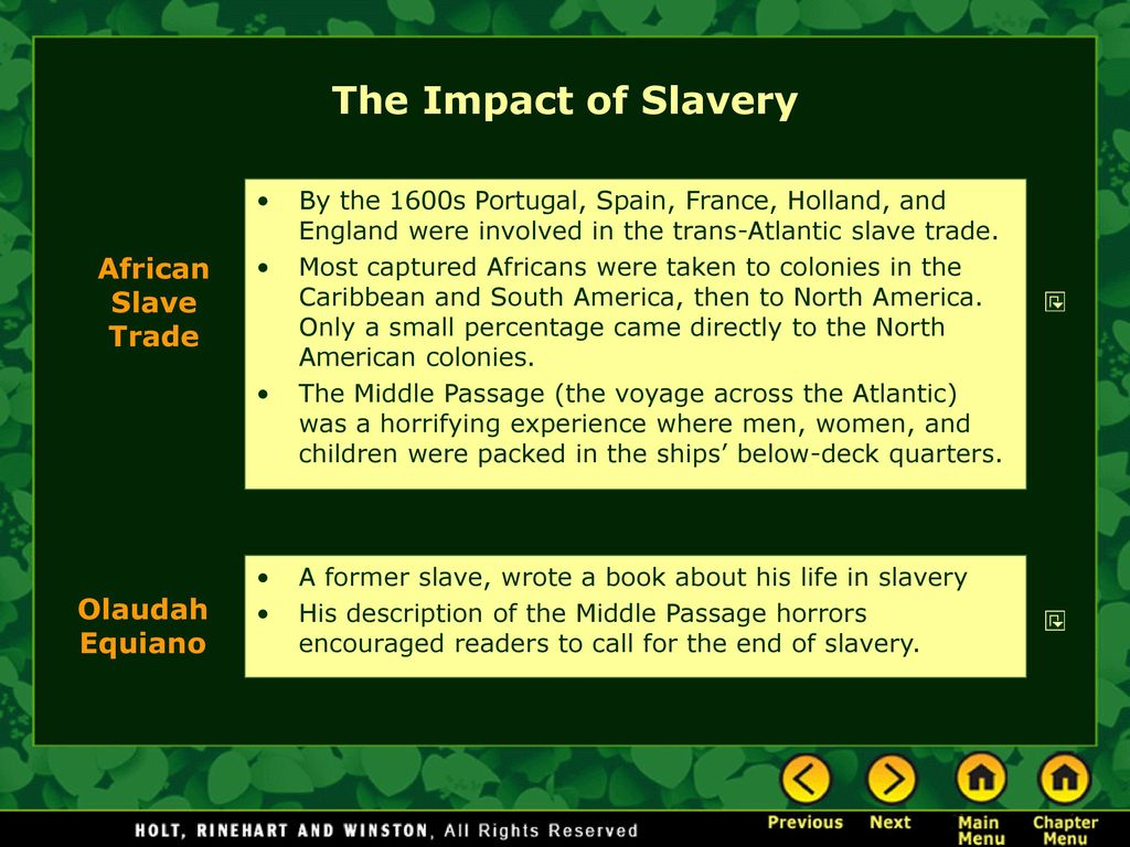 the effects of slavery on african americans African americans are mainly of african ancestry, but many have nonblack  ancestors as well african americans are largely the descendants of slaves— people.