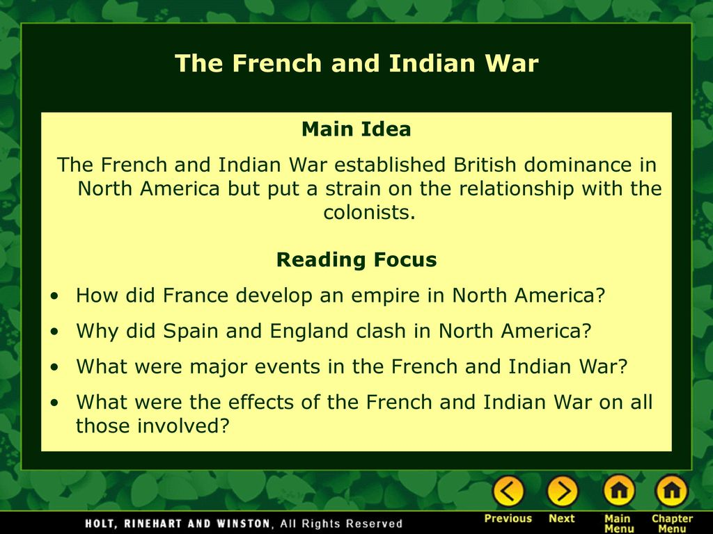 the effects of the french and indian war on north america How the seven years' war led to the american revolution  for dominance in north america, south america, the philippines and india  french and indian war.