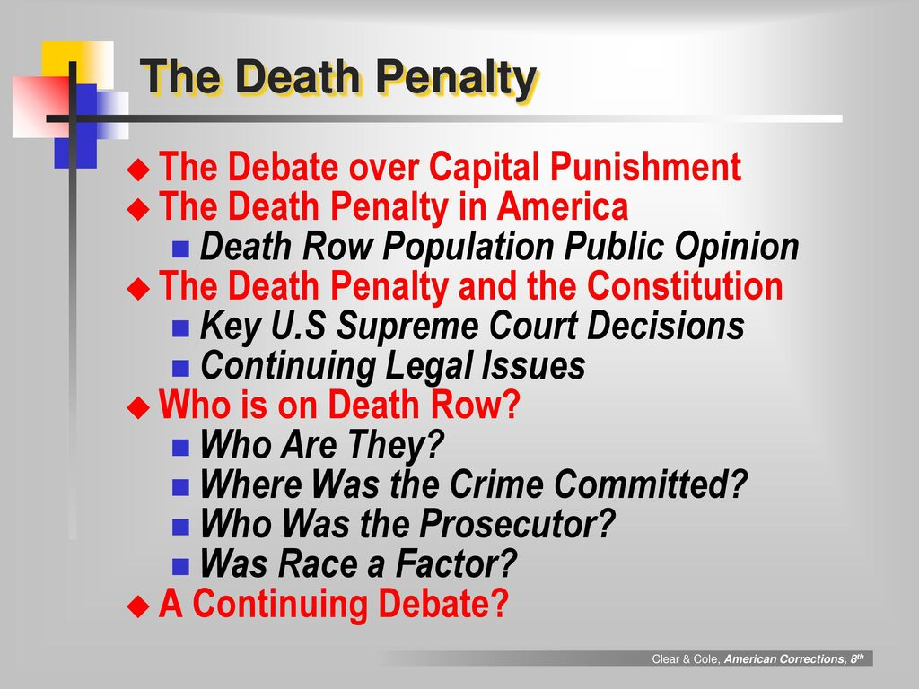 The Advantages and Disadvantages of Capital Punishment (Death Penalty)