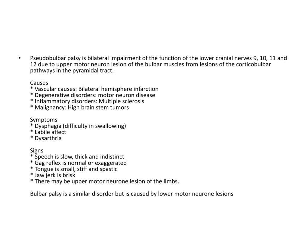 Information ppt download for Bulbar motor neuron disease