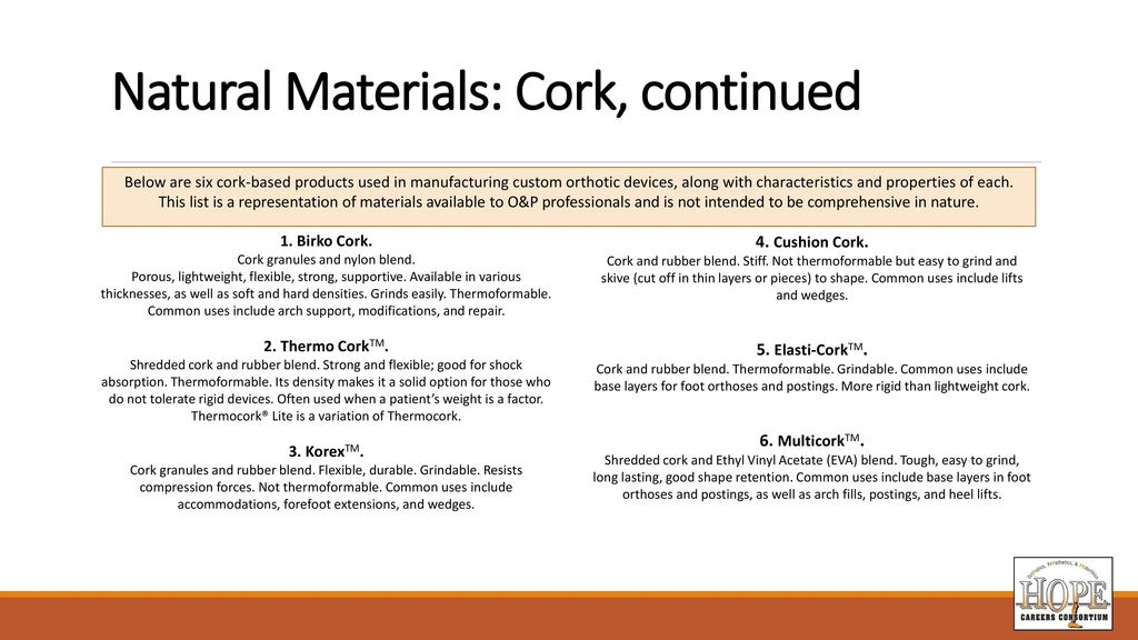Materials For Orthotic And Prosthetic Applications Ppt