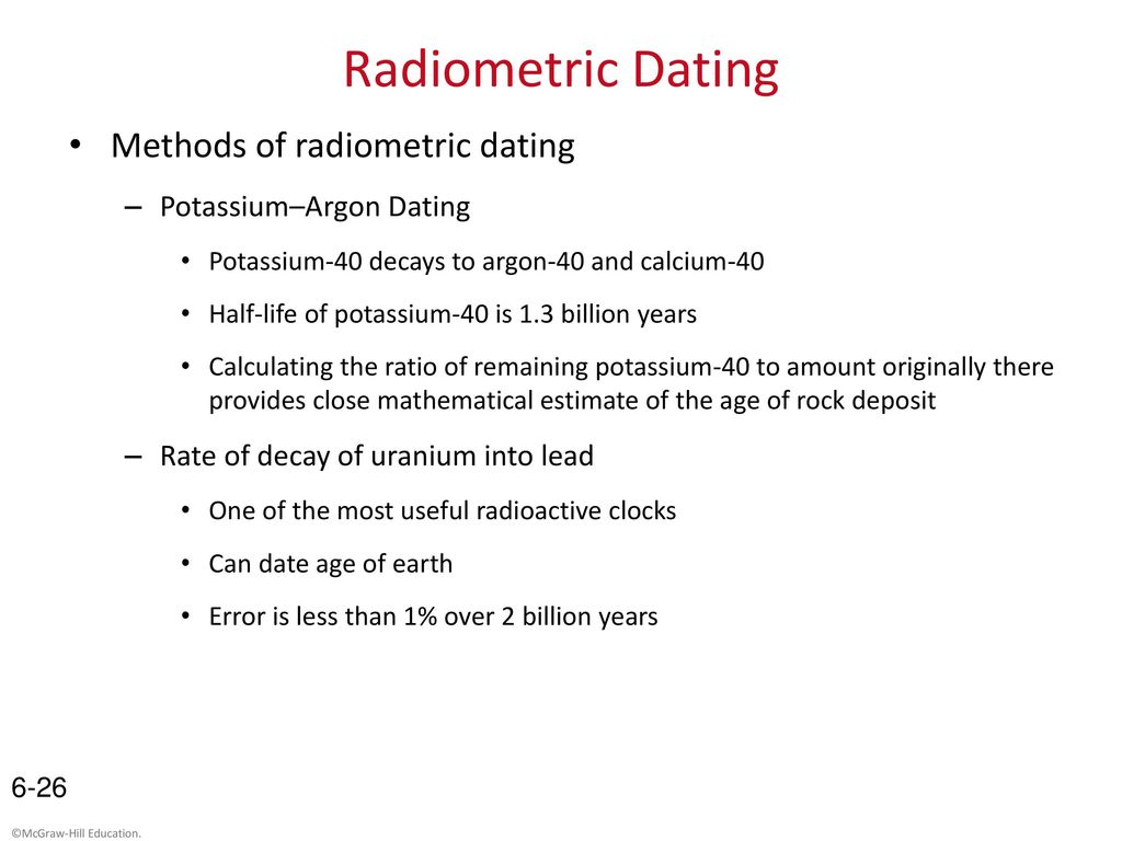Radiometric dating - Conservapedia