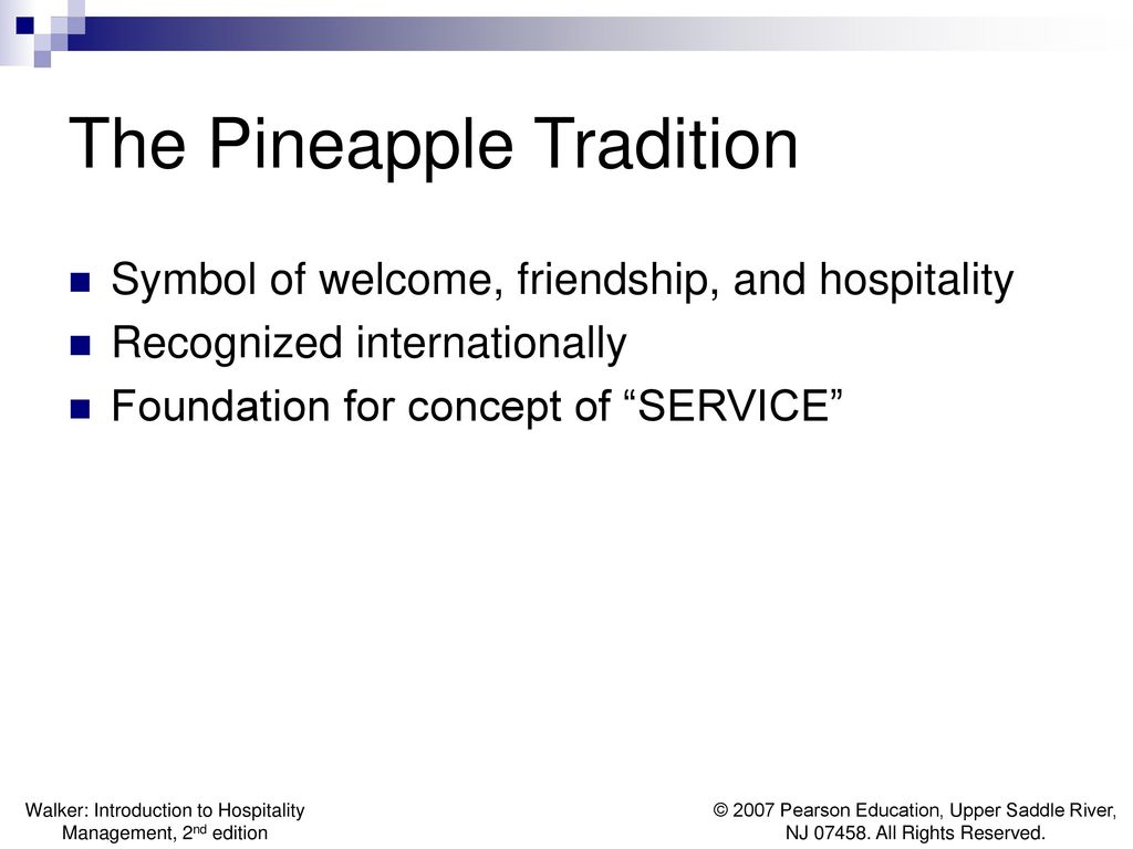 Chapter 1 welcome to the hospitality industry ppt download 3 the pineapple tradition symbol of welcome biocorpaavc Gallery