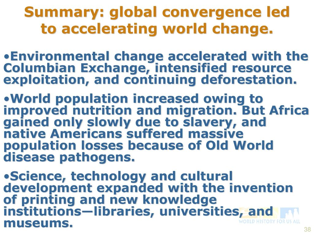 worksheet The Columbian Exchange And Global Trade Worksheet the great global convergence 1400 1800 c e ppt video online summary led to accelerating world change