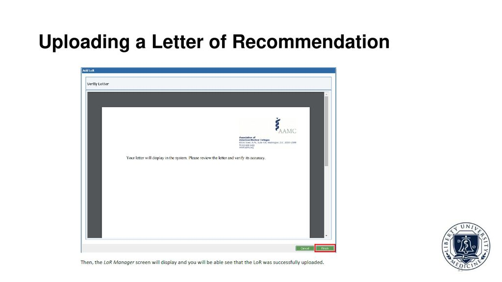 eras letter of recommendation lor and lor author support ppt