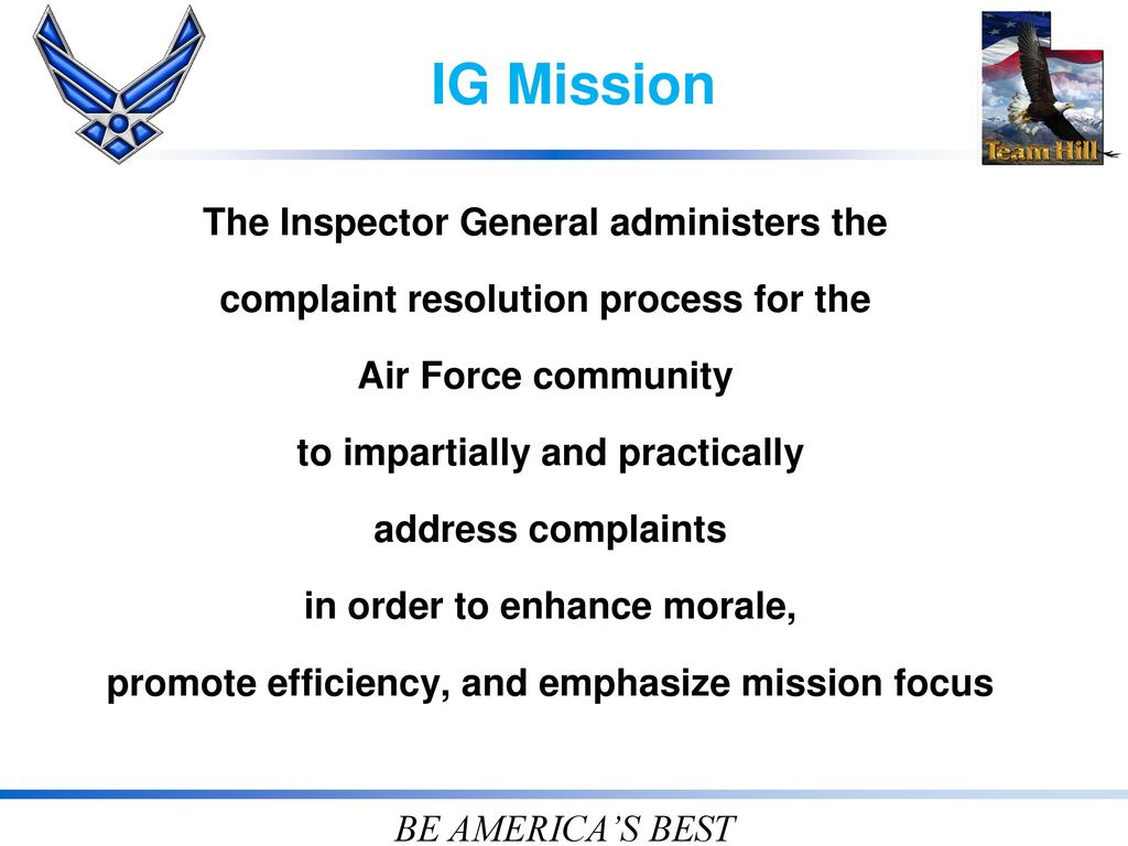 HILL AFB INSPECTOR GENERAL - ppt download