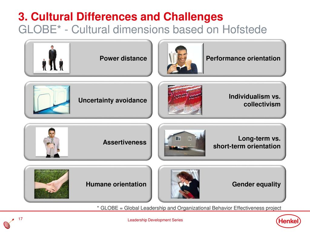3. Cultural Differences and Challenges GLOBE