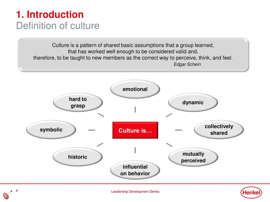 1. Introduction Definition of culture