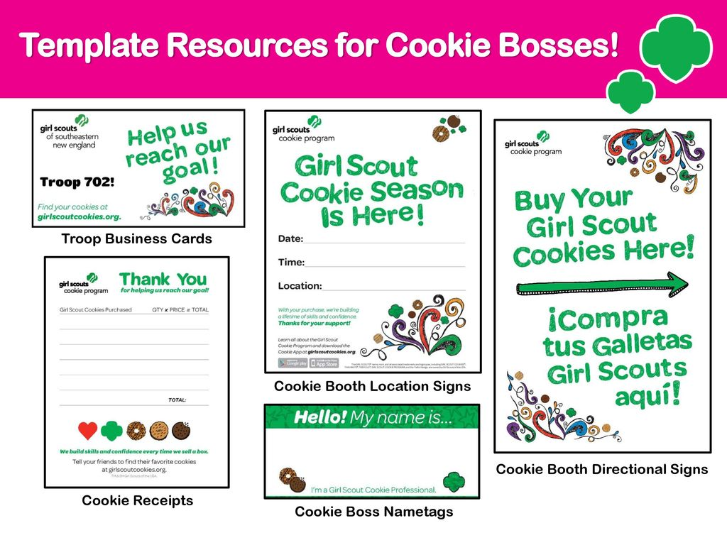 Girl scout cookie kick off ppt download 18 template resources for cookie bosses troop business cards colourmoves Image collections
