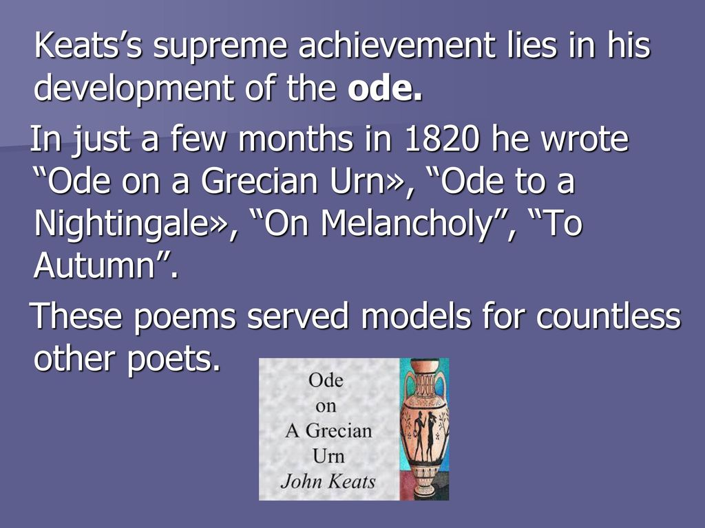 keats ode to melancholy essay Ode on melancholy by john keats ode on melancholy learning guide by phd students from stanford, harvard, berkeley.