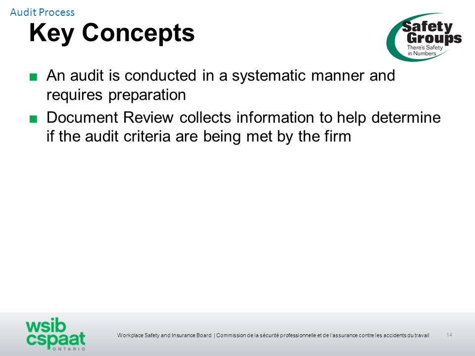 Audit Process Key Concepts. An audit is conducted in a systematic manner and requires preparation.
