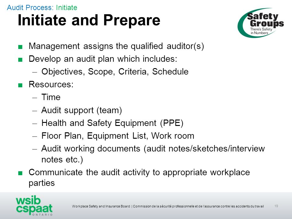 Initiate and Prepare Management assigns the qualified auditor(s)