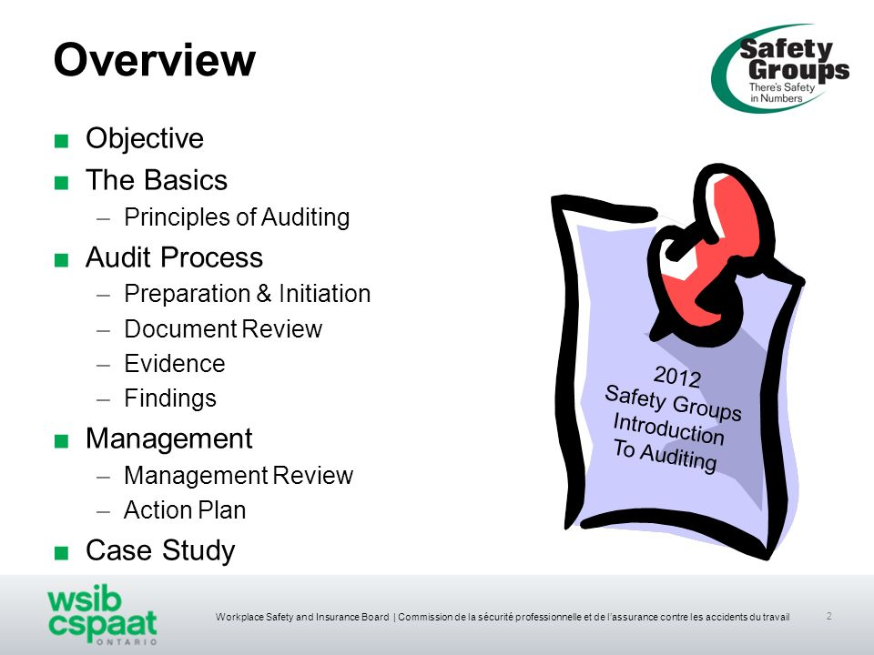 Overview Objective The Basics Audit Process Management Case Study
