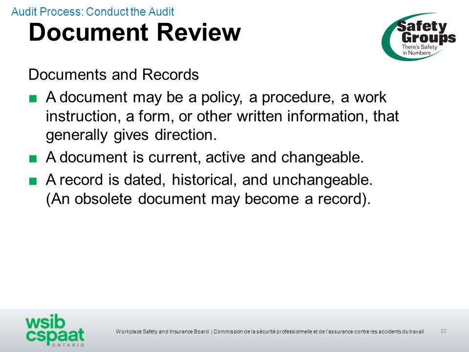Document Review Documents and Records
