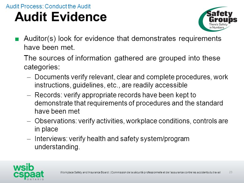 Audit Process: Conduct the Audit