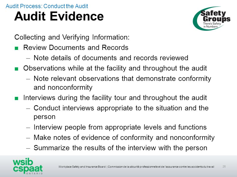 Audit Evidence Collecting and Verifying Information: