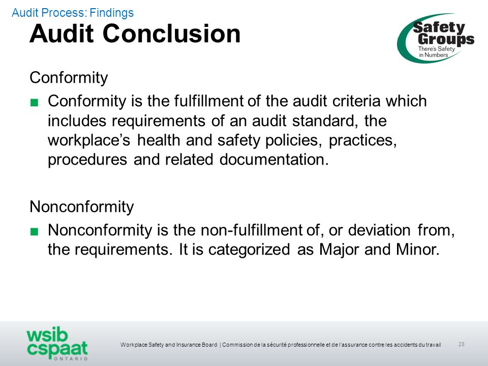 Audit Conclusion Conformity