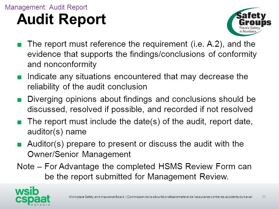 Management: Audit Report