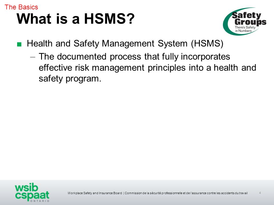 What is a HSMS Health and Safety Management System (HSMS)