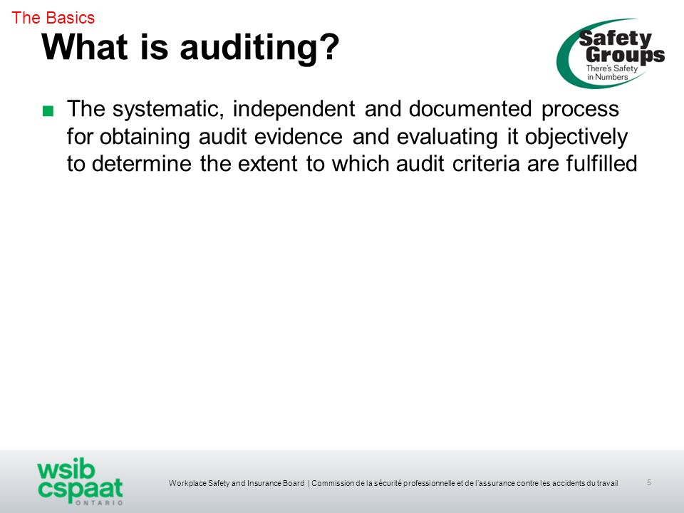 The Basics What is auditing