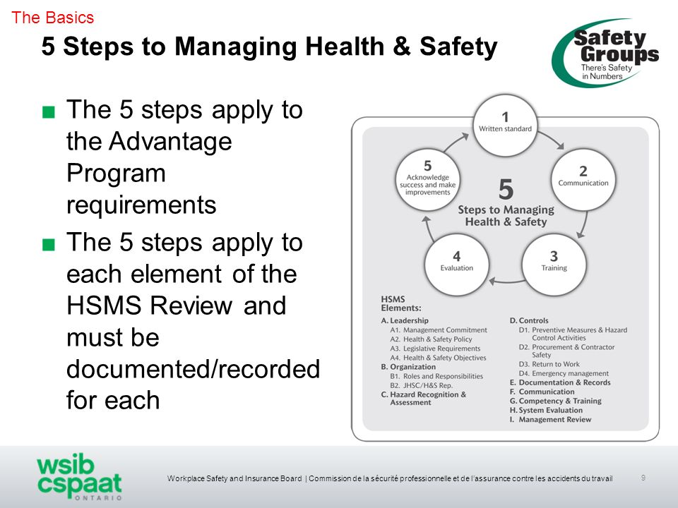 5 Steps to Managing Health & Safety