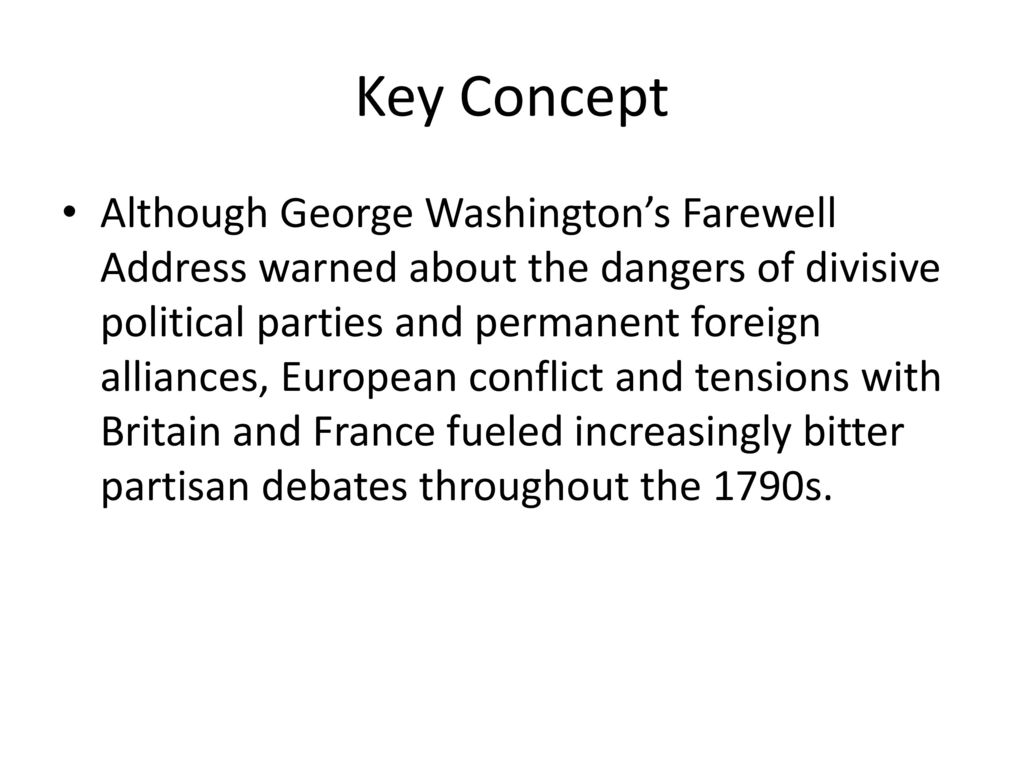 an analysis of george washingtons farewell address in 1796 and the current state of the nation They debate whether our current presi-dent could address the problems we face today  washington's farewell address,1796  george washington's farewell address.