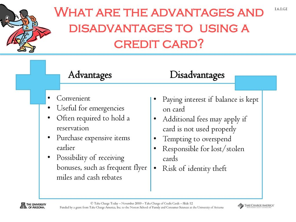 What Are The Advantages And Disadvantages To Using A Credit Card