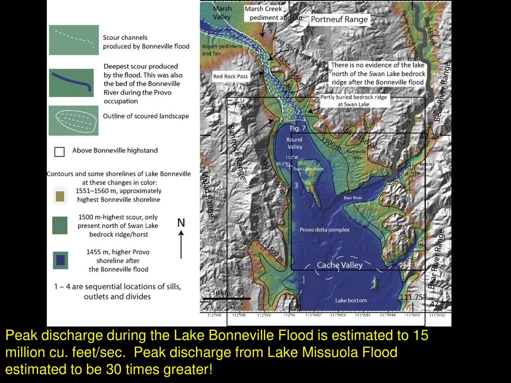 Pluvial lakes latin word for rain is pluvia ppt download peak discharge during the lake bonneville flood is estimated to 15 million cu publicscrutiny Choice Image