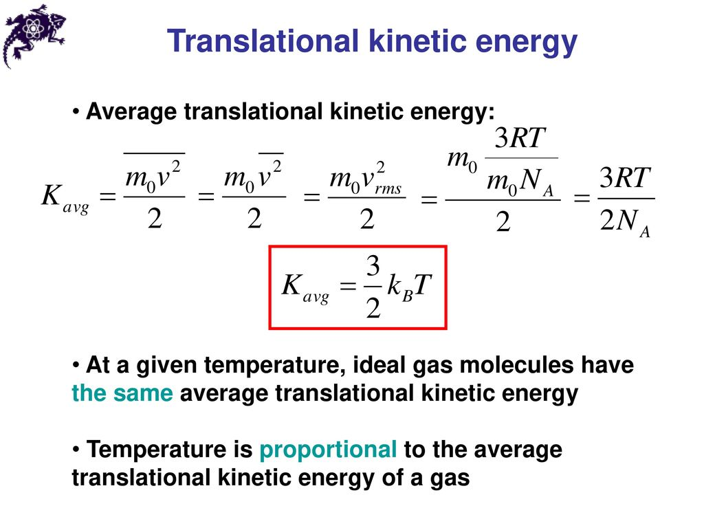Translational kinetic energy