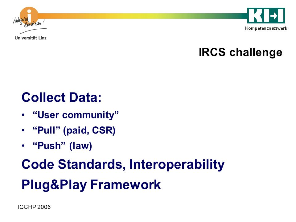 Code Standards, Interoperability Plug&Play Framework