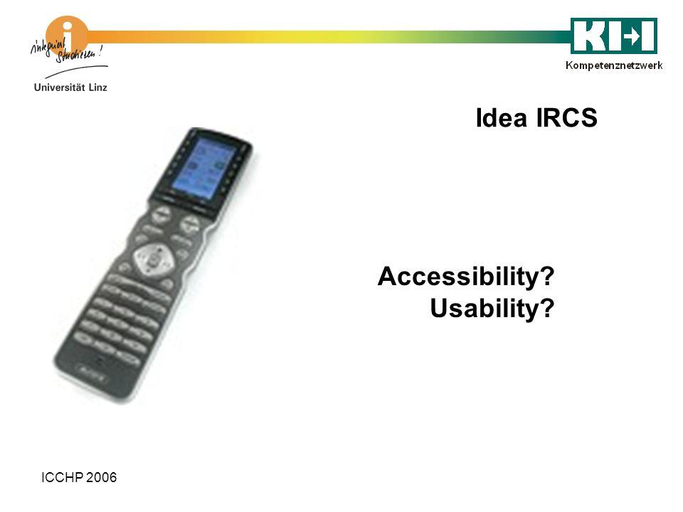 Idea IRCS Accessibility Usability ICCHP 2006