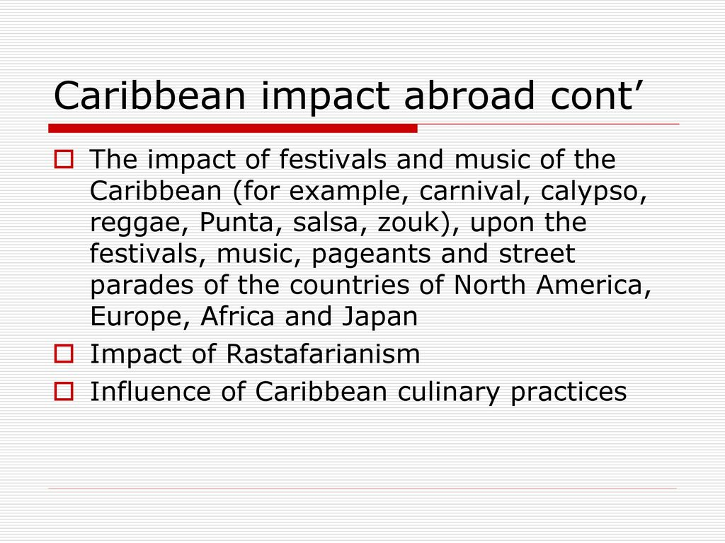 impact of american media on caribbean Advertising media kit  bags and reduce their harmful impact on oceans  is proud to celebrate caribbean-american heritage month 2018 and the.