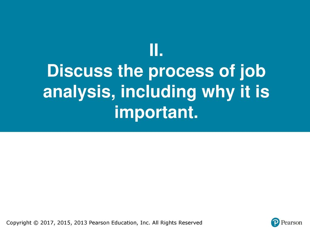 the importance of job analysis essay Job analysis is a family of procedures to identify the content of a job in terms of  activities  through job analysis, the analyst needs to understand what the  important tasks of the job are, how they are carried out, and the necessary human .