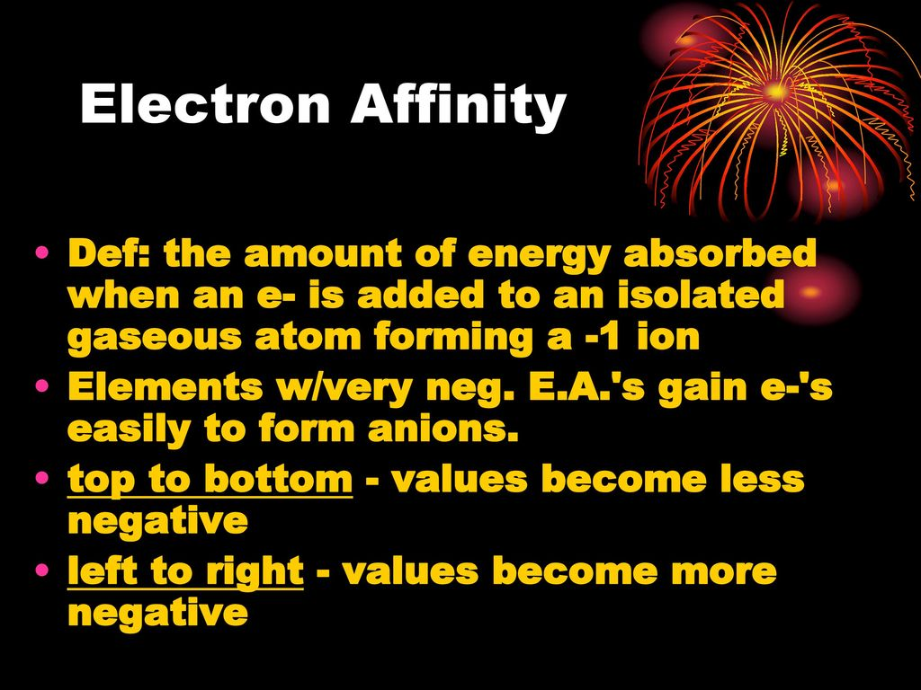 Periodic table and trends ppt download 21 electron affinity gamestrikefo Gallery