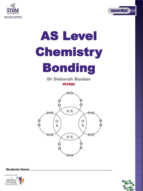 AS Level Chemistry Bonding