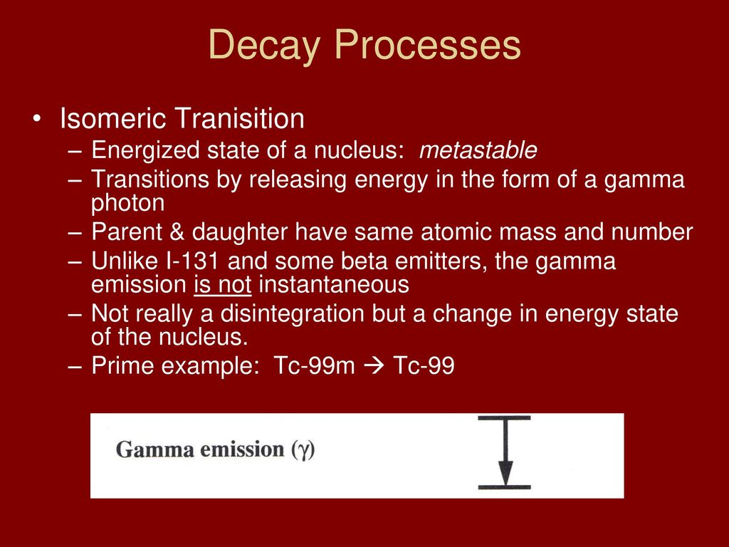 Clrs 321 nuclear medicine physics and instrumentation 1 ppt download 10 decay processes isomeric tranisition biocorpaavc Images