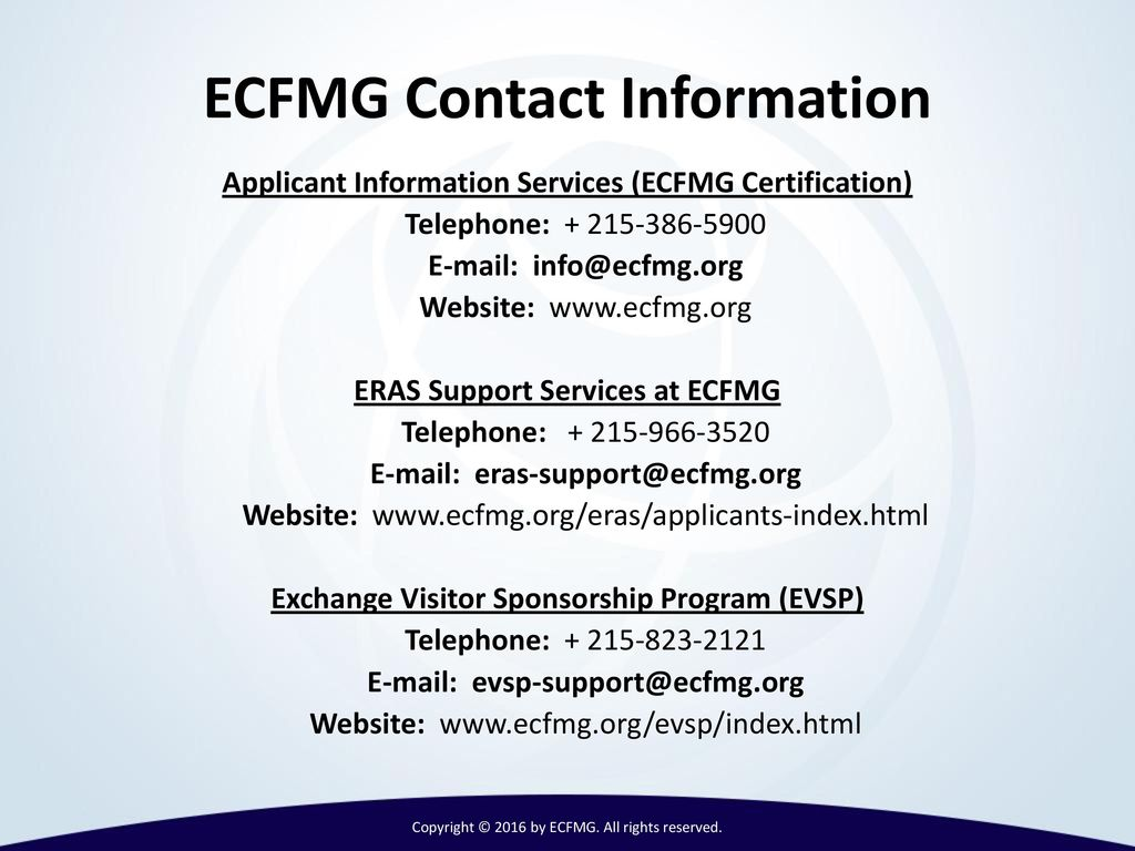 International medical graduates imgs and ppt video online download copyright 2016 by ecfmg all rights reserved 1betcityfo Images