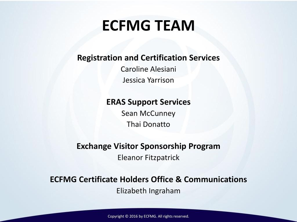 International medical graduates imgs and ppt video online download 6 ecfmg team registration and certification services 1betcityfo Images