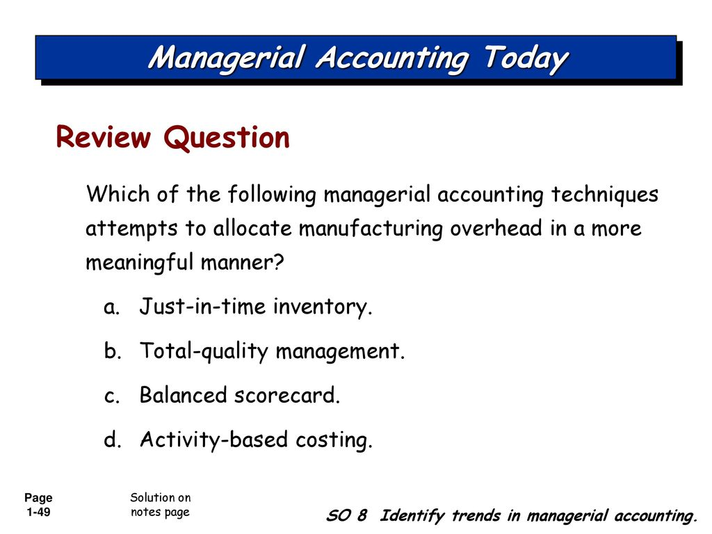 cost accounting chapter 9