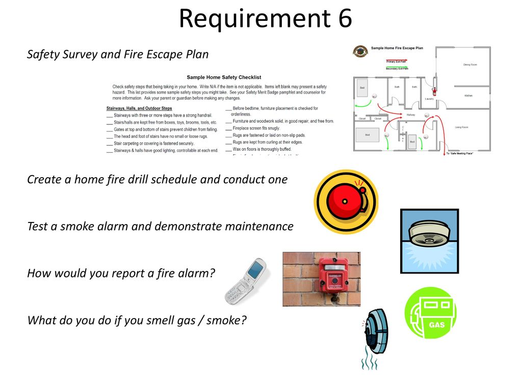 Bsa fire safety mb ppt video online download for How to make a home fire escape plan